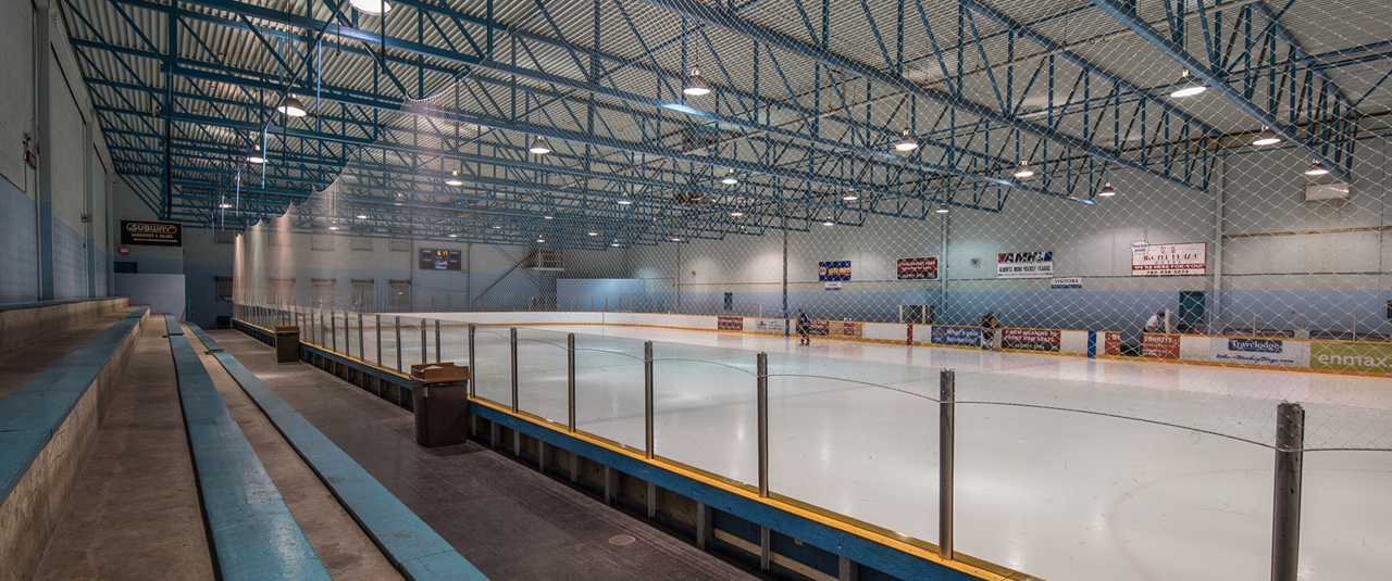 Argyll Plaza Arena Ice Rink and Stand