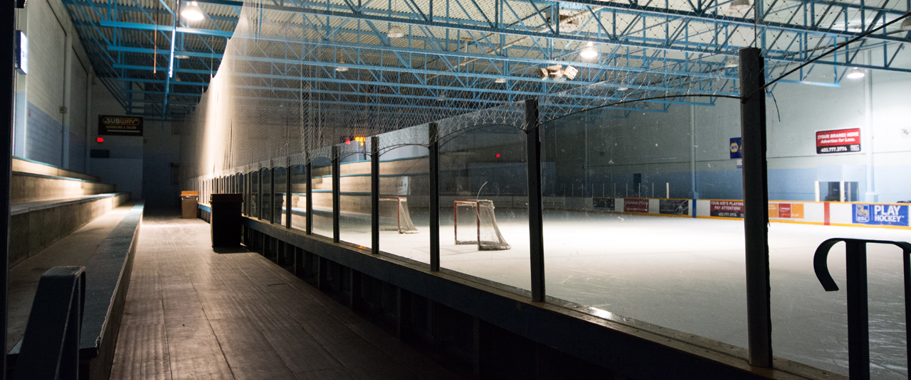 Photo of hockey players in the Argyll Plaza Arena